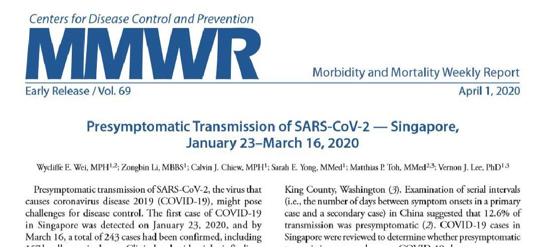 Transmisión del SARS CoV2 a partir de individuos asintomáticos