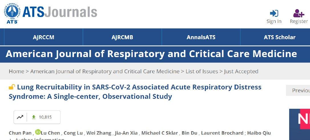 Síndrome de distress respiratorio del adulto en pacientes enfermos por SARS CoV2